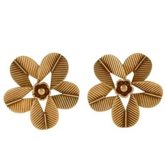 "Cartier Paris 1950s Gold ""Coffee Bean"" Earrings"