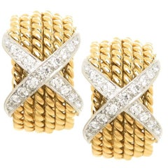 Tiffany & Co. Schlumberger Classic X Diamond Earrings