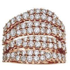Rose Gold and Diamond Pinky Ring