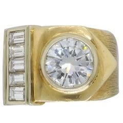 14 Karat Yellow Gold 1.98 Carat Diamond Ring