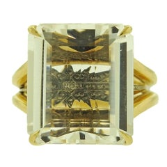H. Stern Stars Crystal Gold Ring