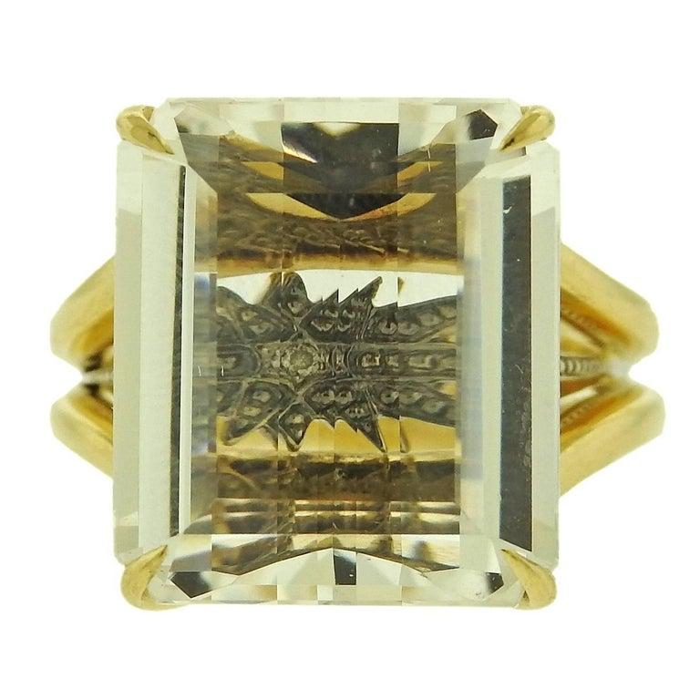 H. Stern Stars Crystal Gold Ring