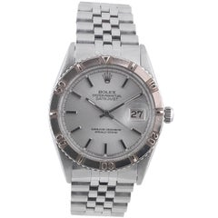 "Rolex White Gold Stainless Steel Datejust Turn-O-Graph ""Thunderbird"" Wristwatch"