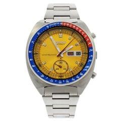 Seiko Stainless Steel Chronograph Tachymeter Bezel Wristwatch