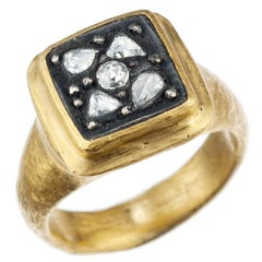 "Yossi Harari ""Gilver"" Diamond Ring in 24 Karat Yellow Gold and Sterling Silver"