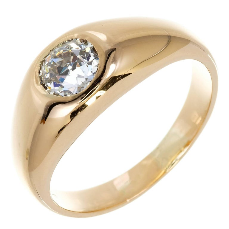 Victorian 1900 Gypsy Diamond Gold Ring
