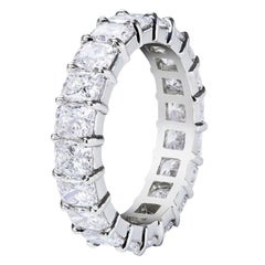 Radiant Cut Diamond Platinum Eternity Wedding Band
