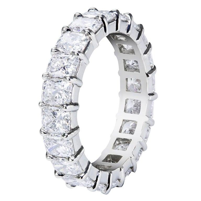 Radiant Cut Diamond Platinum Eternity Wedding Band