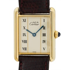 Cartier Vermeil Must de Cartier Tank Louis Quartz Wristwatch, circa 1990s