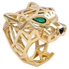 Huge Cartier Gold Panther Ring