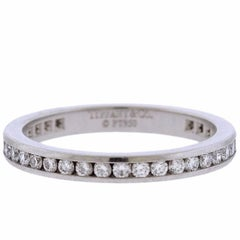 Tiffany & Co. Diamond Platinum Eternity Wedding Band Ring