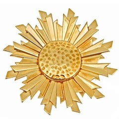 18k Gold Empress of the Sun Brooch by John Landrum Bryant