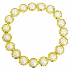 Mabe Pearls Gold Necklace