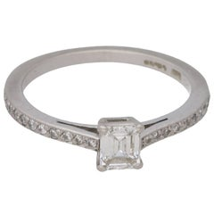Boodles Emerald Cut Diamond Engagement Ring 0.37 Carat
