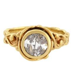 Vintage 1.00 Total Carat Half Moon Diamond Ring