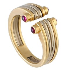 Van Cleef & Arpels Ruby Yellow and White Gold Band Ring