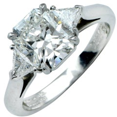Tiffany & Co. GIA Graded 2.59 Carat Diamond Engagement Ring