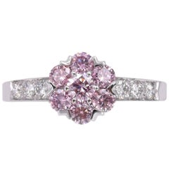 "Van Cleef & Arpels Fancy Intense Pink Diamond ""Fleurette"" Ring"