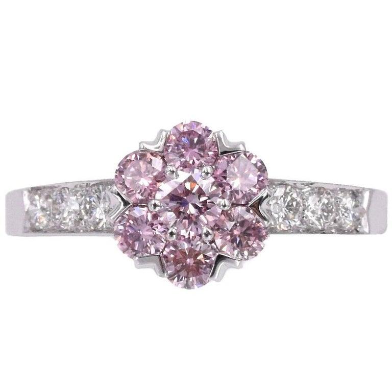 "Van Cleef & Arpels Fancy Intense Pink Diamond ""Fleurette"" Ring"
