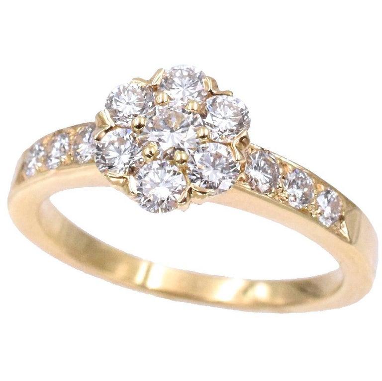 "Van Cleef & Arpels White Diamond ""Fleurette"" Ring"