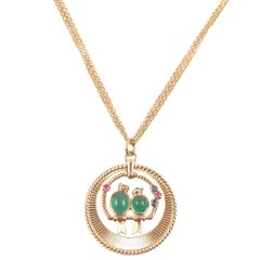 Van Cleef & Arpels Emerald Sapphire Ruby Pendant with Associated Chain