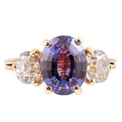 Stunning 2.96 Carat Tanzanite 1.50 Carat Diamond Ring