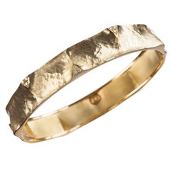 """Vendorafa """"Dune"""" Diamond Bracelet in 18 Karat Yellow Gold"""