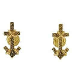 Tiffany & Co. Schlumberger Arrow Gold Cufflinks
