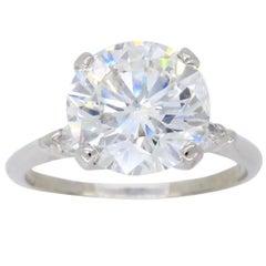 2.67 Carat Diamond Platinum  Engagement Ring