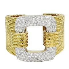 David Webb 15.00 Carat Diamond Yellow and White Gold Bracelet
