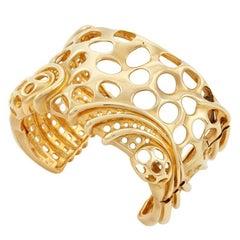 18 Karat Yellow Gold Octopus Cuff Only by John Landrum Bryant