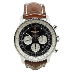 Breitling Stainless Steel Navitimer Automatic Wristwatch Ref AB0127