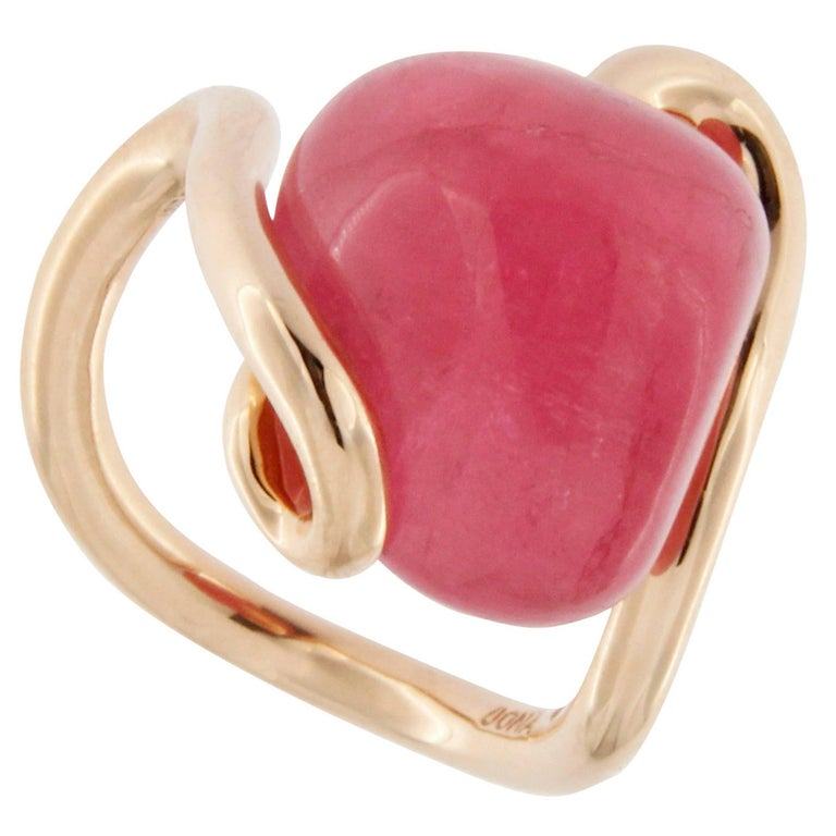 Jona Pink Tourmaline 18k Rose Gold Ring