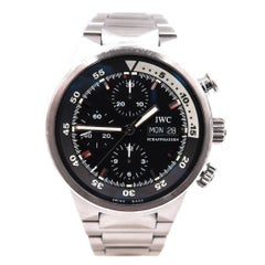 IWC Stainless Steel Aquatimer Chronograph Automatic Wristwatch