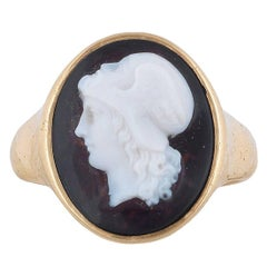 Gryllus Agate Cameo Ring