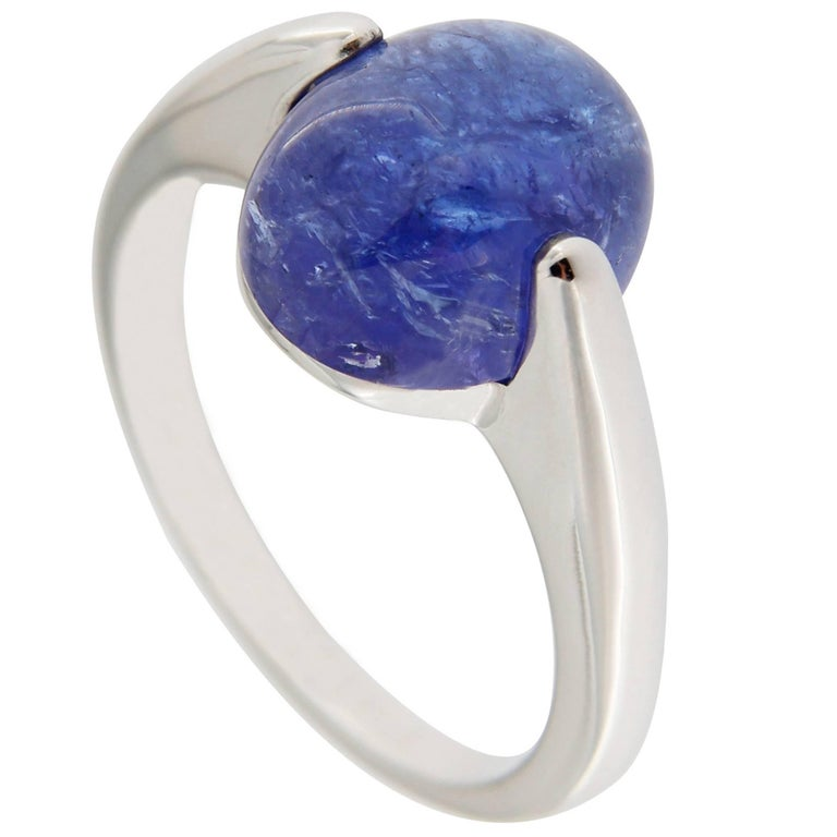 Jona Tanzanite 18k White Gold Solitaire Ring
