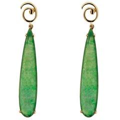 Jona Burmese Jade Mother-of-Pearl Quartz Yellow Gold Pendant Earrings