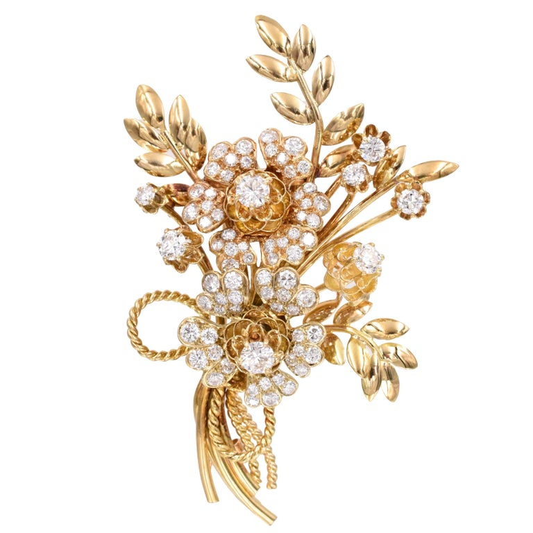 Van Cleef & Arpels diamond brooch, 1950s