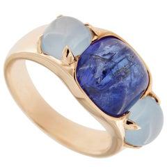 Jona Tanzanite Aquamarine Rose Gold Ring