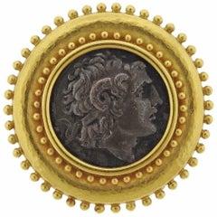 Elizabeth Locke Ancient Coin Gold Brooch Pin