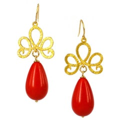Decadent Jewels Red Gold Earrings