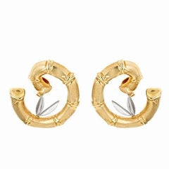 18k Gold Platinum Dancing Bamboo Earrings by John Landrum Bryant