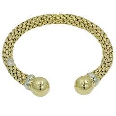 Fope White and Yellow Gold Bracelet/Bangle