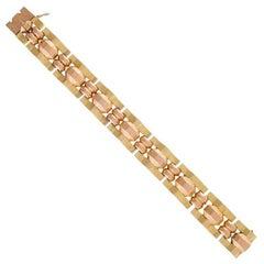 French Retro Gold Link Bracelet