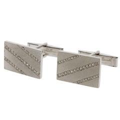 Midcentury Diamond Gold Cufflinks