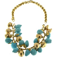 Fruit Turquoise Necklace and Bracelet Together