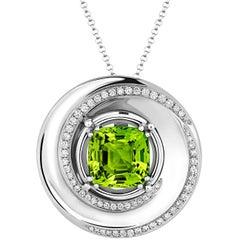 Tivon Fine Jewellery Peridot and Diamond Pendant