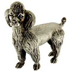 Dog Sculpture Poodle in Silver