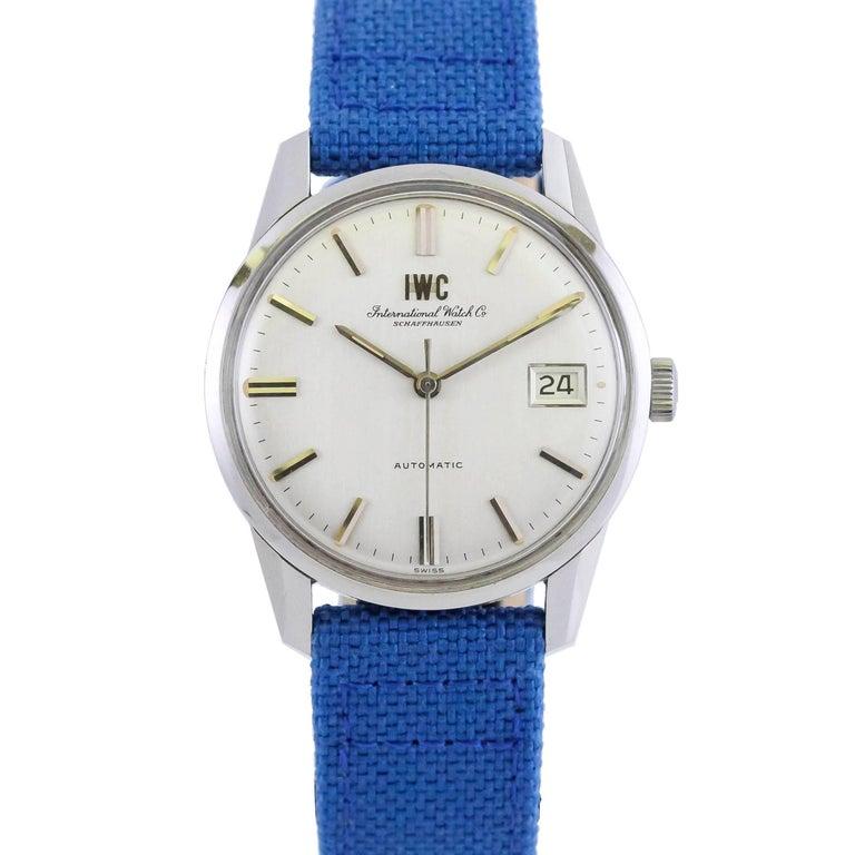 International Watch Company IWC Stainless Steel Automatic Wristwatch circa 1960s