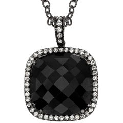 Emilio Jewelry 20.79 Carat Black Spinel Diamond Pendant